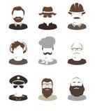 Ustawia ilustracje -- męscy avatars Zdjęcia Stock