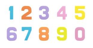 Ustawia inkasowego Arabskiej liczby symbol odizolowywającego nad białym tłem gąbki guma obrazy stock