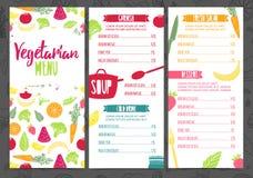 Ustawia inkasowego projekta szablonu pionowo jarskiego menu Korporacyjnej tożsamości menu dla kawiarni lub restauraci Broszurka z ilustracja wektor