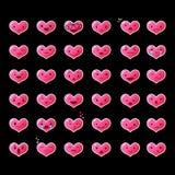 Ustawia Kierowych Emoticons 2 Fotografia Royalty Free