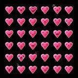 Ustawia kierowych emoticons Zdjęcie Royalty Free