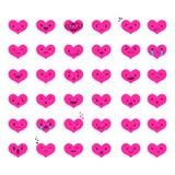 Ustawia Kierowych Emoticons 6 Obraz Stock