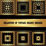Ustawia kolekcję Złoty kwadrat Obraz Royalty Free