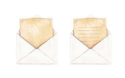 Ustawia kopertę z listem Obraz Royalty Free