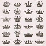 ustawiać koron ikony Royalty Ilustracja