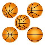 Ustawia koszykówki piłkę Zdjęcia Stock