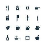ustawiać kulinarne ikony Zdjęcie Stock