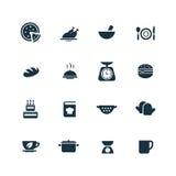 ustawiać kulinarne ikony Obraz Royalty Free
