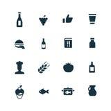 ustawiać kulinarne ikony Zdjęcia Royalty Free