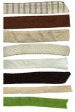 ustawia lampasy tekstylnych Obraz Stock