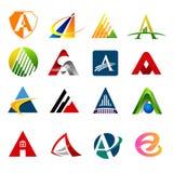 Ustawia list logo z różnorodnymi opcjami list a, obrazy royalty free