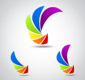 Ustawia loga biznes. kolorowa żaluzja ilustracja wektor