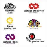Ustawia loga, logo kolekcja, logo, kreatywnie projekta loga szablon, wektorowy loga szablon logo dla twórczości Obraz Stock