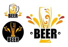 Ustawia loga piwa sklep ilustracja wektor