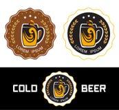 Ustawia loga piwa sklep royalty ilustracja