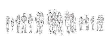 Ustawia ludzi biznesu komunikacyjnych podczas spotkania, zgoda przed biznesmen dyskusi kolegami ilustracja wektor