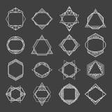 Ustawia minimalistycznych abstrakcjonistycznych geometrycznych kształty, symbole ilustracji
