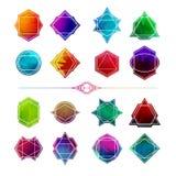 Ustawia minimalistycznych abstrakcjonistycznych geometrycznych kształty, symbole royalty ilustracja