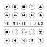 Ustawiać muzyczne ikony Zdjęcie Stock