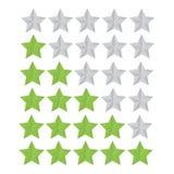 Ustawia oceny gwiazdę Zdjęcia Stock