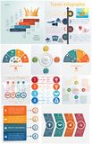 Ustawia 10 ogólnoludzkich szablonów elementów Infographics konceptualnego cycl royalty ilustracja