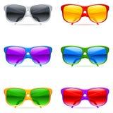 ustawia okulary przeciwsłoneczne royalty ilustracja
