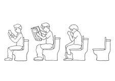 Ustawia osob aktywność doodle ręki rysunku nakreślenia wektorową ilustrację Zdjęcia Royalty Free
