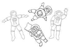 Ustawia osob aktywność doodle ręki rysunku nakreślenia wektorową ilustrację Obraz Royalty Free