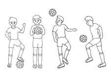 Ustawia osob aktywność doodle ręki rysunku nakreślenia wektorową ilustrację Fotografia Stock