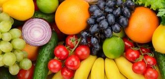 Ustawia owoc i warzywo Zdjęcia Royalty Free