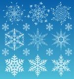 ustawia płatek śniegu ilustracja wektor