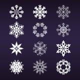 ustawia płatek śniegu Zdjęcia Royalty Free