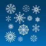 ustawia płatek śniegu biały Obraz Royalty Free