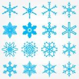 Ustawia płatka śniegu nowego roku Deseniowych boże narodzenia Obrazy Royalty Free