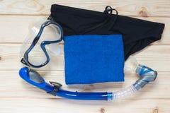 Ustawia pływać w morzu błękit Fotografia Royalty Free
