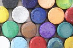 Ustawia pastelową sztukę na białym tle Fotografia Stock