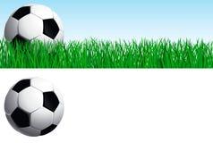 ustawia piłkę nożną Zdjęcie Royalty Free