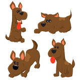 ustawiać psie ikony Zdjęcia Stock