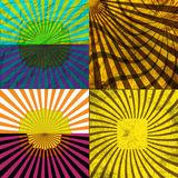 Ustawia rocznik Barwiącego promienia tło EPS10 wektor Zdjęcia Royalty Free