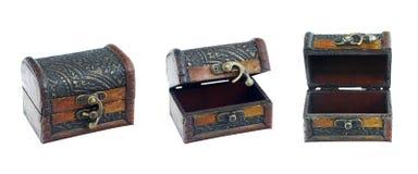Ustawia rocznika pudełko na odosobnionym białym tle Obrazy Royalty Free