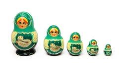 Ustawia rosyjską gniazdować lalę Zdjęcia Royalty Free