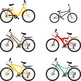 Ustawia rower górskiego Fotografia Royalty Free