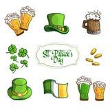 Ustawia rzeczy dla wakacje St Patrick dnia W Ilustracji