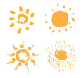 ustawia słońca Obrazy Royalty Free