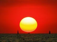 ustawia słońce Obraz Stock