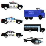 Ustawia samochody policyjnych Obraz Stock