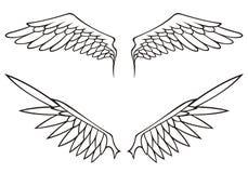 ustawia skrzydła ilustracji