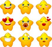 ustawia smileys gwiazdy Obraz Stock