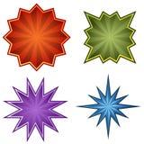 ustawia starburst Fotografia Royalty Free