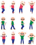 Ustawia starsi ludzi robi różnym sportów ćwiczeniom Obraz Stock